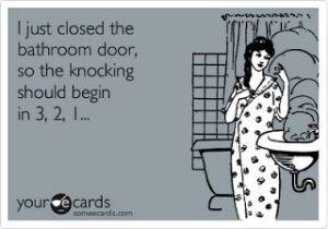 bathroom knocking